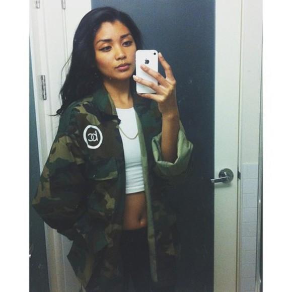camouflage jacket military
