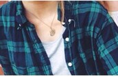 shirt,green and blue,white buttons,flannel shirt