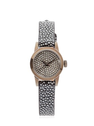 cute diamonds watch white silver jewels