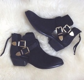 shoes,steve madden,black,booties,ankle boots