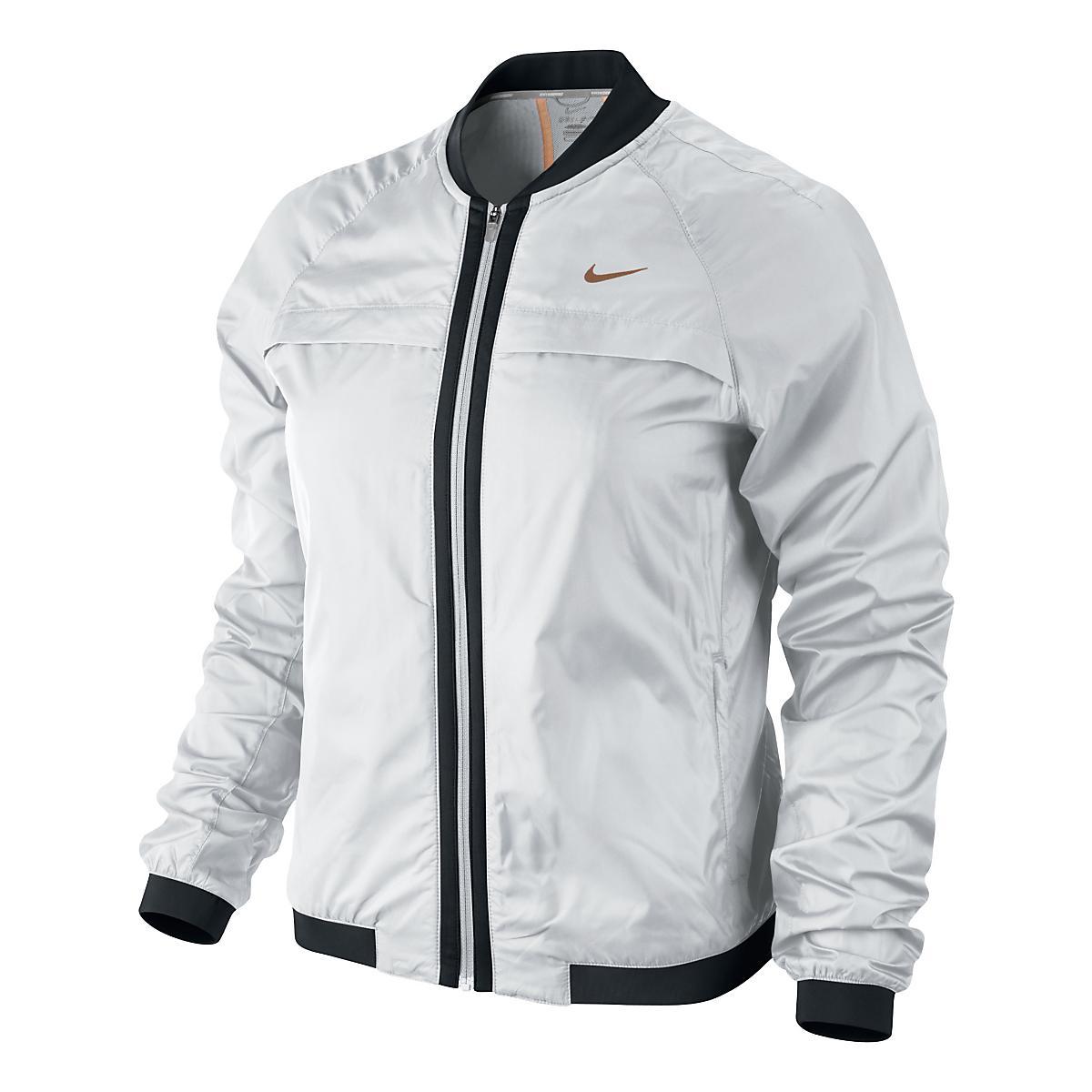 Nike jacket gray and black - Women S Nike Bomber Jacket