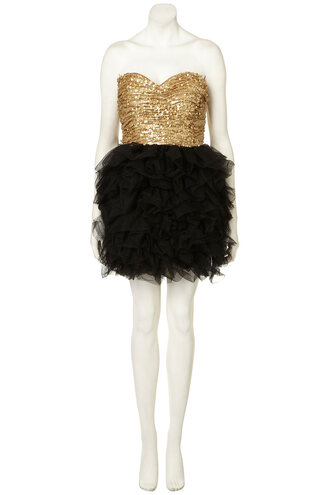 gold dress black dress ballerina