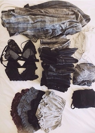 shorts burgundy black grey stripes grunge fashion pajamas comfy cothes shirt