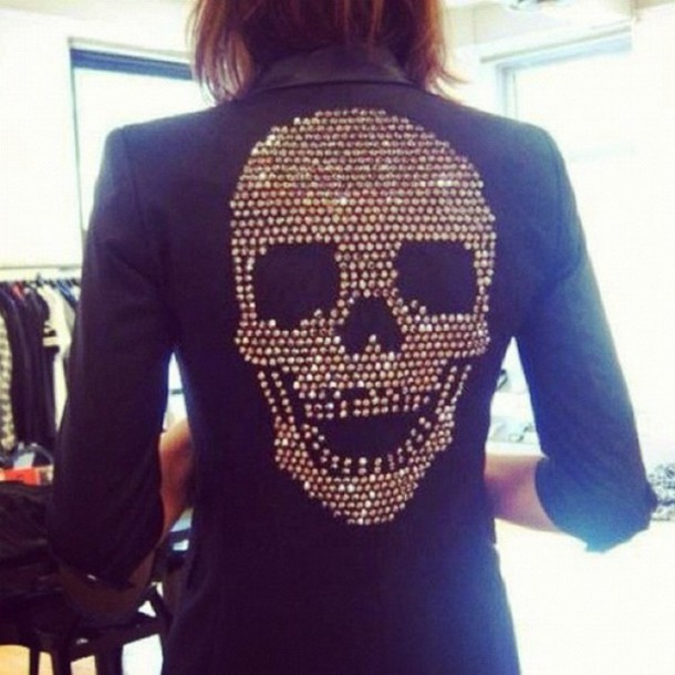 jacket blazer skull