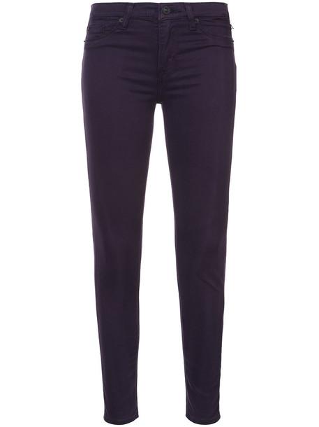 Hudson jeans skinny jeans women cotton purple pink