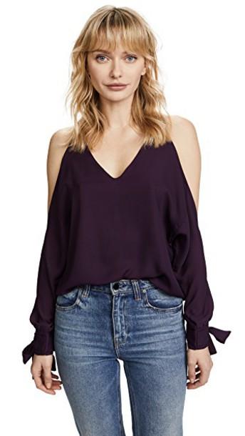 Line & Dot blouse cold purple top
