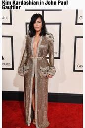 kardashians,formal dress,celebrity style,grammys 2015,kim kardashian,shoes,sandals,dress