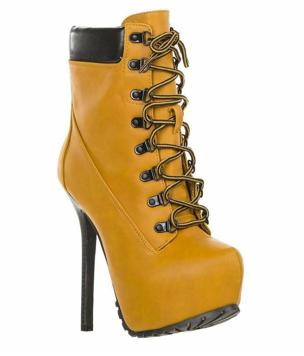 shoes timberland heels heels boots platform lace up