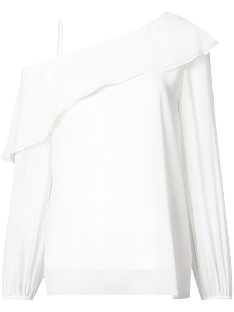 Derek Lam - One-Shoulder Blouse - women - Silk - 38, White, Silk