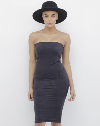 dress strapless strapless dress tube dress suede suede dress black black dress