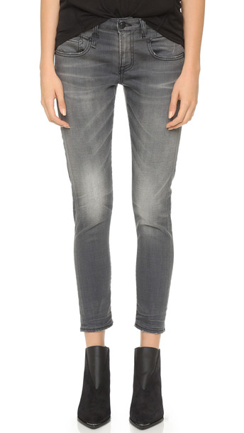 R13 Boy Skinny Jeans - Slate Grey Vintage