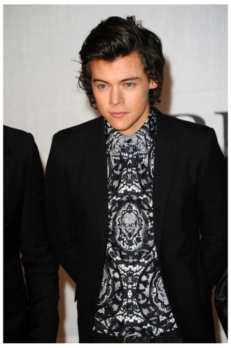 2014 brit awards harry styles mens shirt jacket shirt