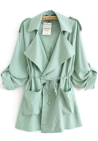 blouse sea green loose long sleeves button up blouse collared shirts tied shirt flowy flows top