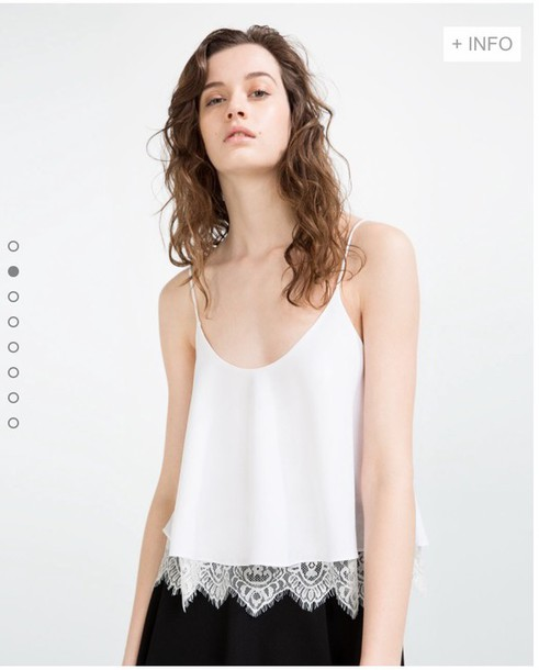 65d254c91880e0 blouse zara zara skirt white lace white blouse cheaper version top crop tops  cute style