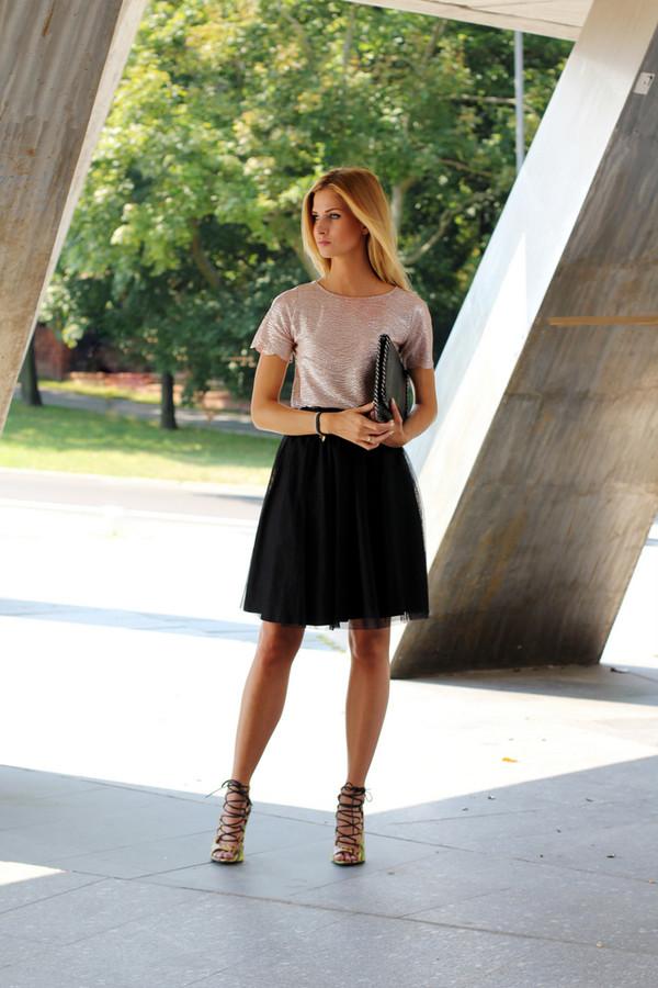 beauty fashion shopping skirt bag shoes