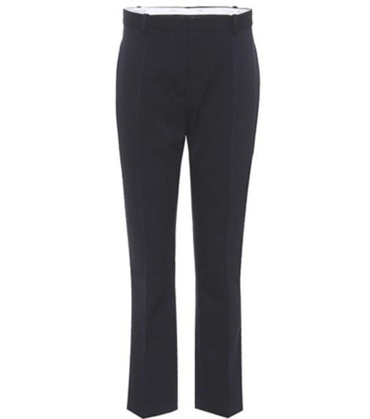 Joseph cropped wool blue pants