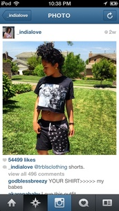 shorts,black,india westbrooks,model,instagram,top