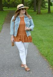 mommyinheels,blogger,jacket,top,jeans,bag,hat,sunglasses