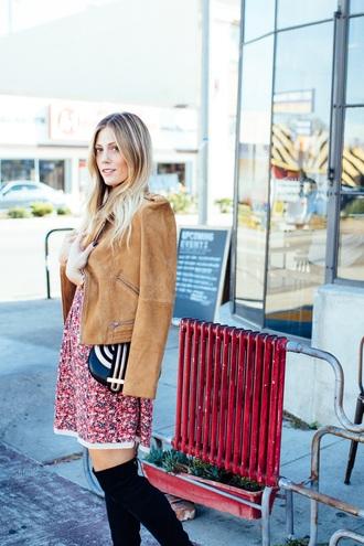 devon rachel blogger suede jacket