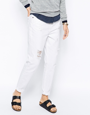 Selected | Selected Vinna Boyfriend Jeans with Rips at ASOS
