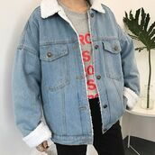jacket,itgirl shop,36683,kfashion,korean fashion,fashion,tumblr,southkorean,ulzzang,streetstyle,aesthetic,clothes,apparel,kawaii,cute,women,indie,grunge,pastel,kawaiifashion,pale,style,online,kawaiishop,freeshipping,free,shipping,worldwide,palegoth,soft grunge,softgoth,minimalist,inspiration,outfit,itgirlclothing,denim jacket,fur collar,fluffy collar,fur collar jacket