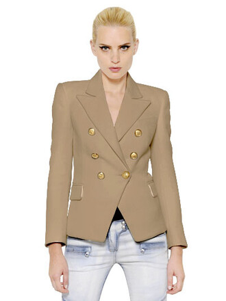 jacket double breasted khaki