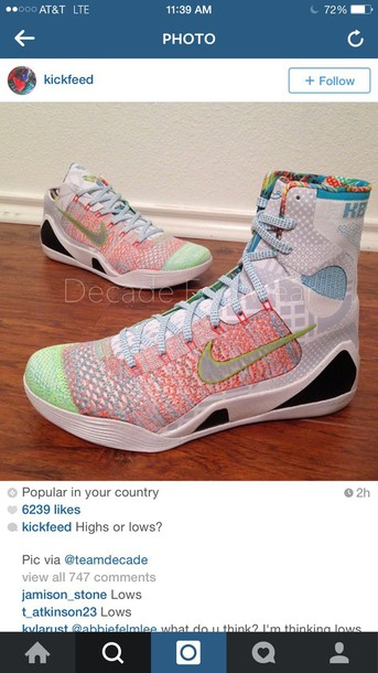 shoes nikes multicolored