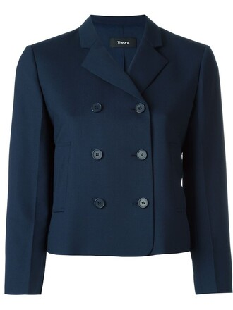 jacket cropped jacket cropped blue