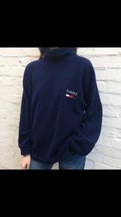 sweater,tommy hilfiger,tommy hilfiger pull,blue pull,dark blue,dark blue pull,jumper