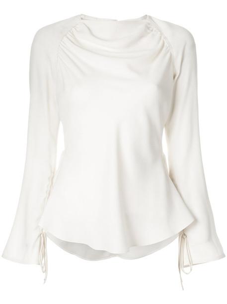 MARNI blouse women draped nude top