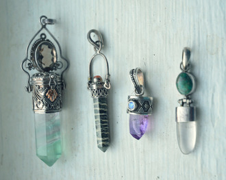 jewels pendant precious stone cute indie pretty boho jewelry stones violet blue silver necklace
