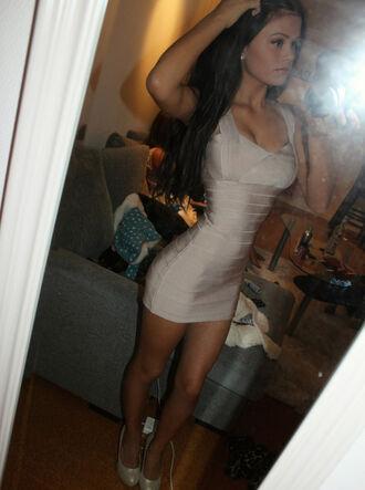 dress high heels bandage dress white dress cream dress bodycon dress party dress