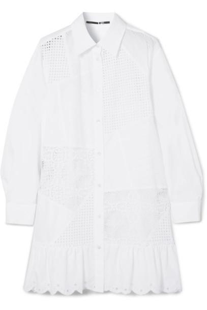 McQ Alexander McQueen dress mini dress mini white cotton