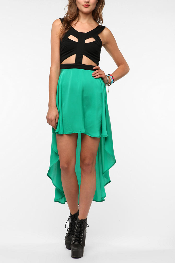 Cutout High/Low Dress - Urban Outfitters