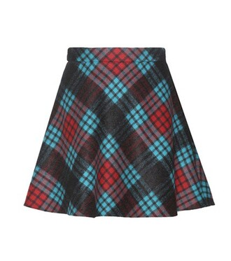 miniskirt mohair wool blue skirt