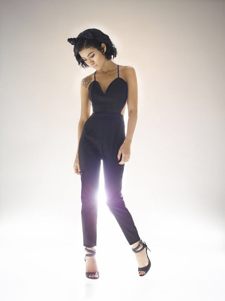 jumpsuit jhene aiko cat ears
