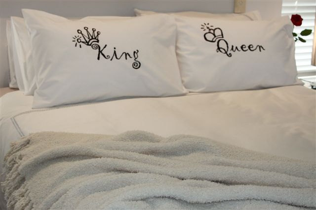 printed pillow cases. Pillow Case, Matching Cases, Couples Printed Cases: King And Queen Pillowcase Set Cases N