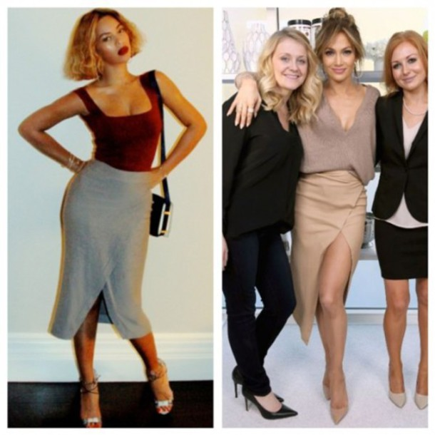 skirt beyonce jennifer lopez top shoes bodysuit sweater