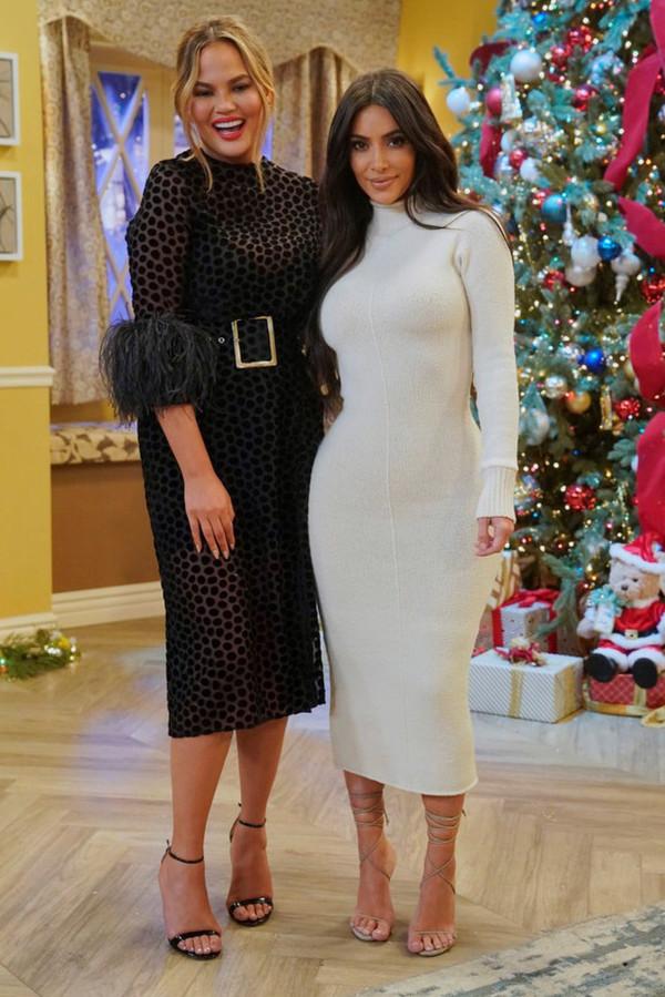 dress midi dress new year dresses kim kardashian chrissy teigen celebrity bodycon dress feathers