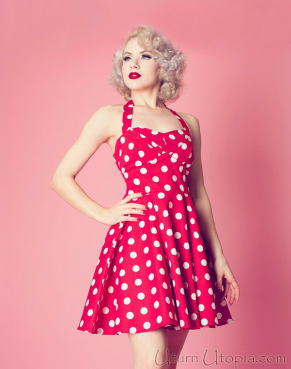 50s style polka dots