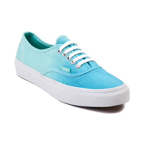 Vans authentic slim skate shoe, blue mint, at journeys shoes