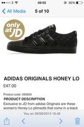 shoes,adidas,originals,adidas originals,honey lo,low,adidas honey,trainers,all black everything