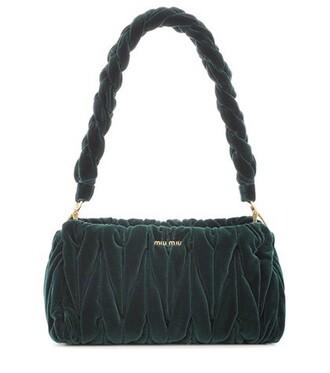 bag shoulder bag velvet green
