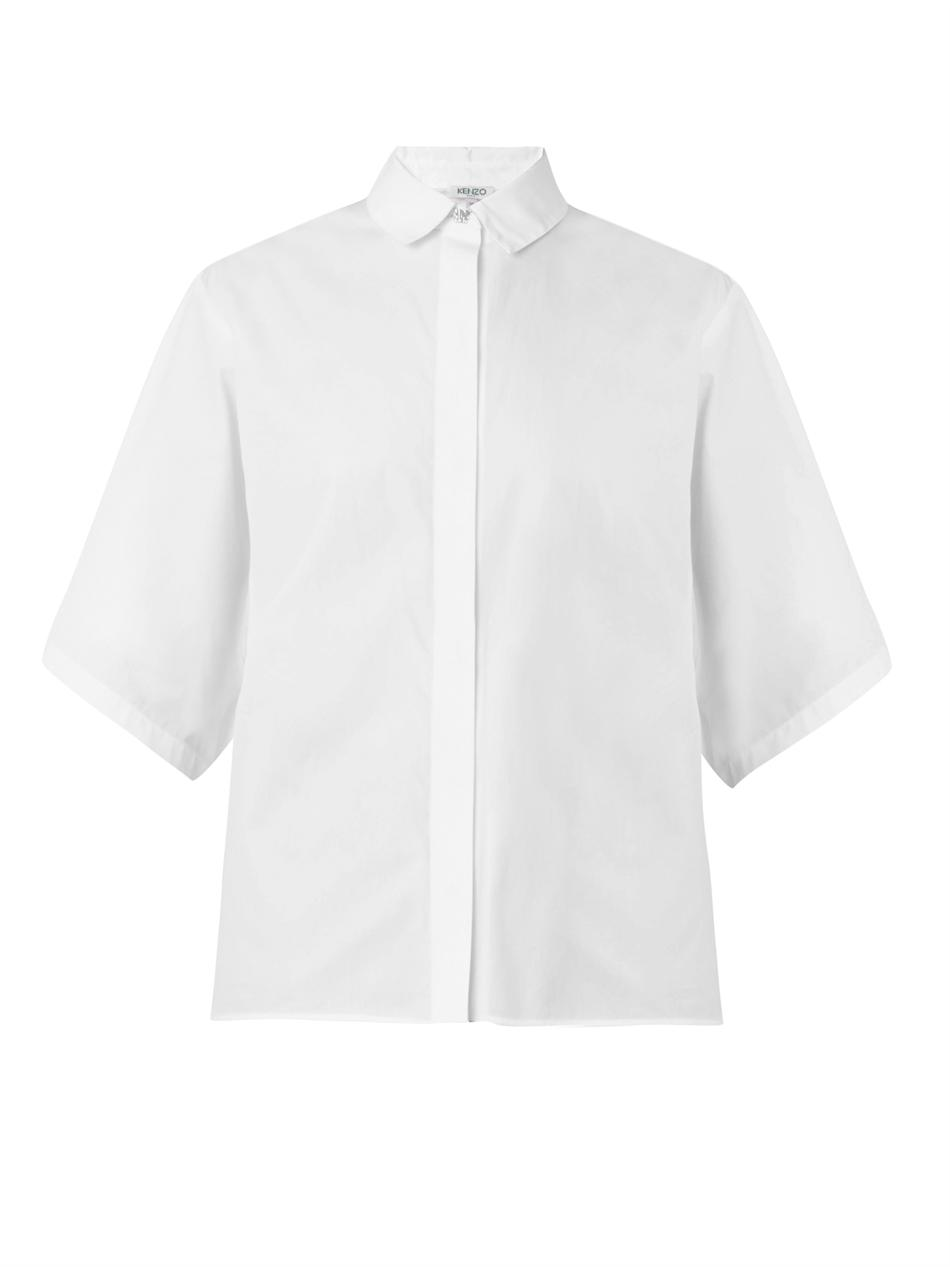 Fire-button cotton-poplin shirt | Kenzo | MATCHESFASHION.COM