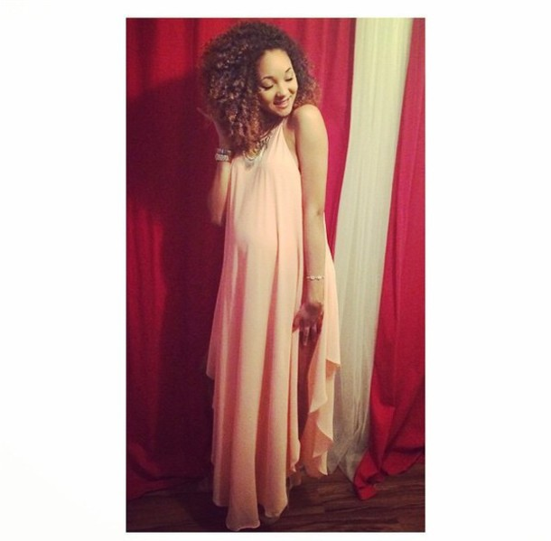 dress flowy beautiful orange dress peach dress pastel dress maternity dress sundress white dress