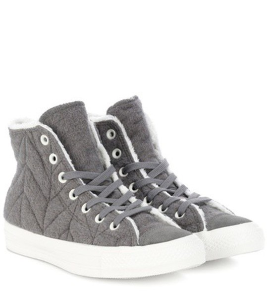 converse sneakers stars grey shoes