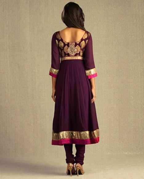 folk dress indian russian purple maxi dress