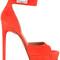 Givenchy - shark lock sandals - women - calf suede - 39, yellow/orange, calf suede