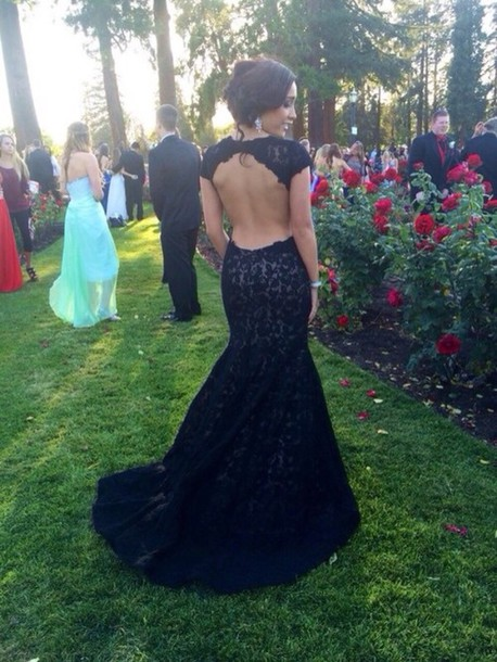 dress black dress cut out back dress prom dress