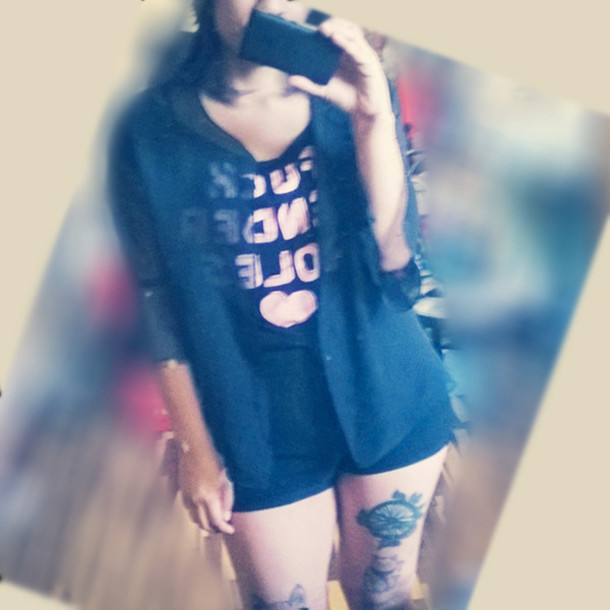 tank top crop tops tattoo peruvian body wave unprocessed hair transparent shirt shorts short feminist kawaii kawaii dark